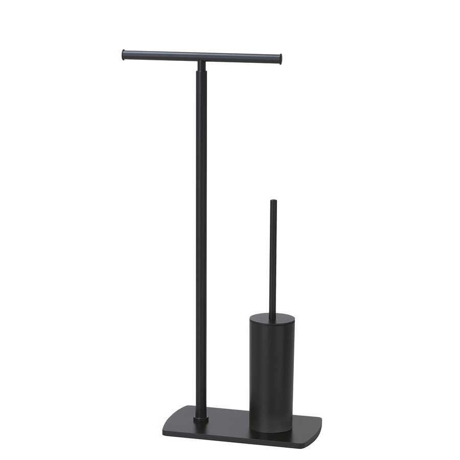 Suport hartie igienica si perie WC Gedy Freestanding Black