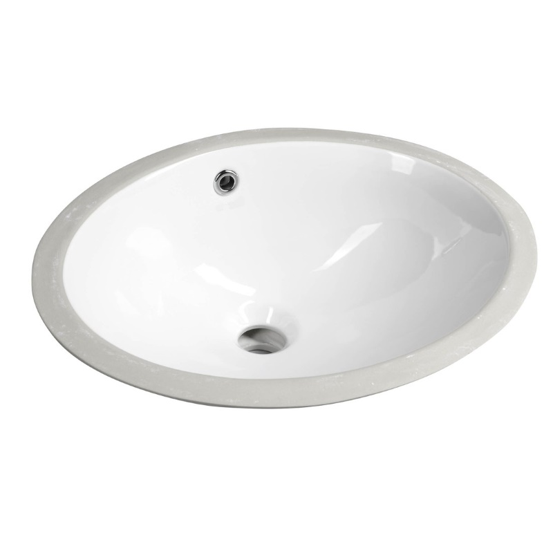 Lavoar ceramic oval sub blat Sapho Under 430